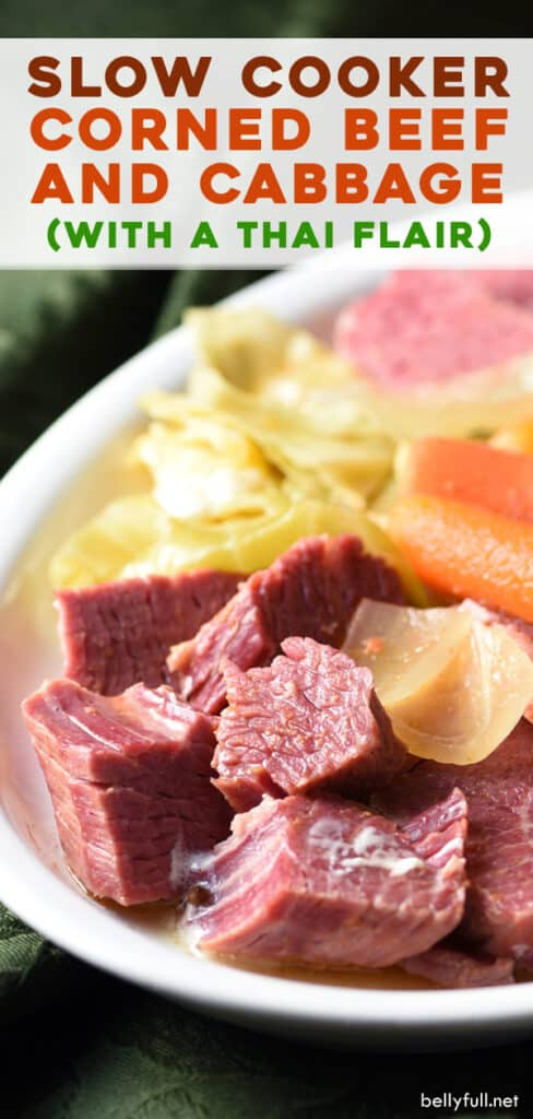 long pin for Thai Slow Cooker Corned Beef and Cabbage