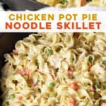 long pin for chicken pot pie noodle skillet