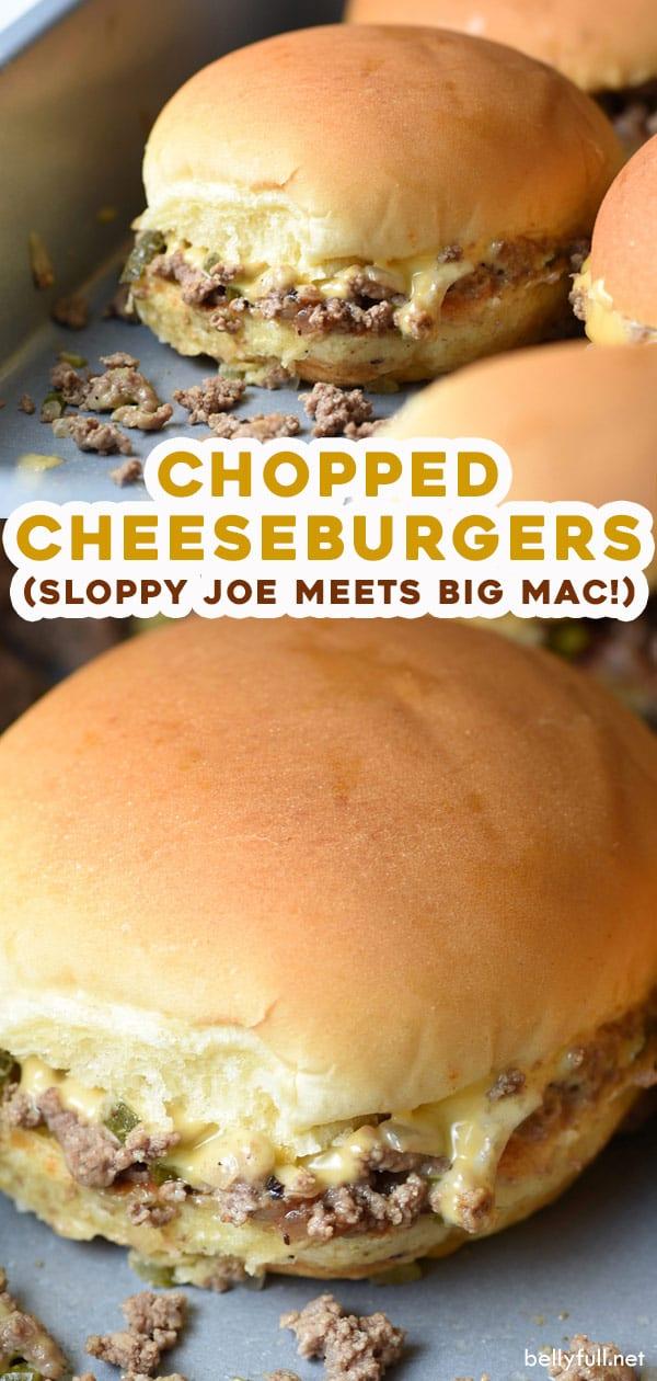 2 photo long pin for chopped cheeseburger sliders