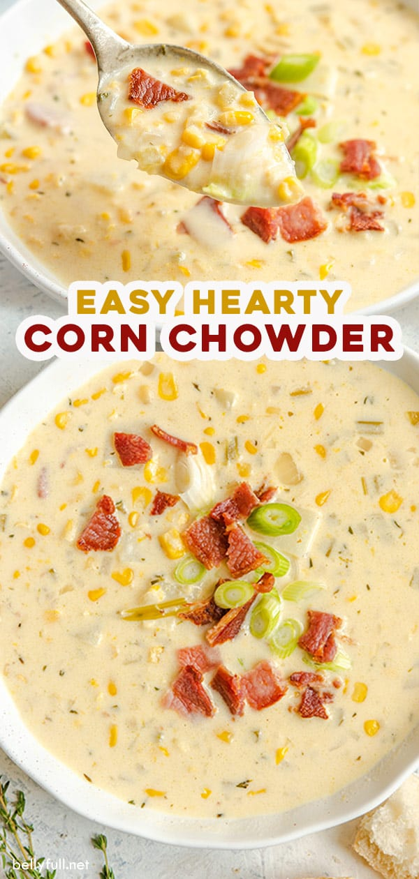 long pin for easy homemade corn chowder