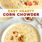 long pin for easy corn chowder
