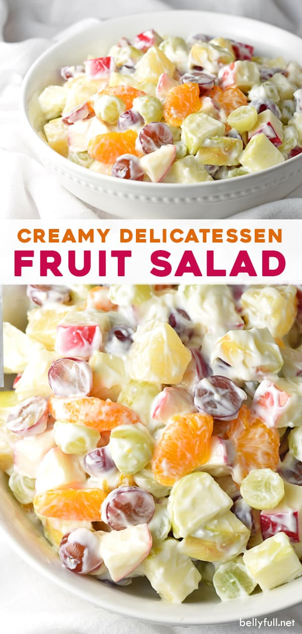 2 picture long pin for Creamy Delicatessen Fruit Salad