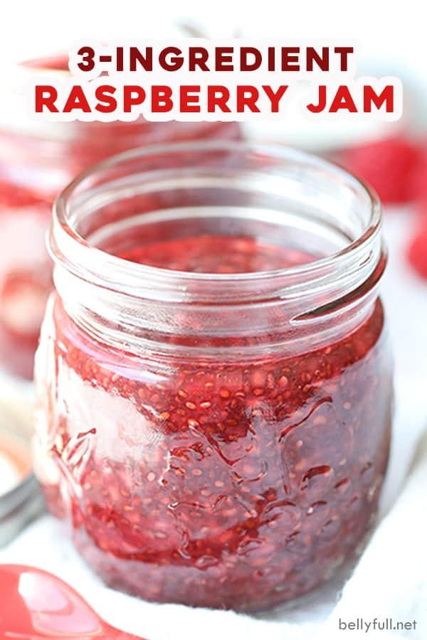 pin for homemade raspberry jam