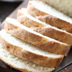 sliced homemade sandwich bread