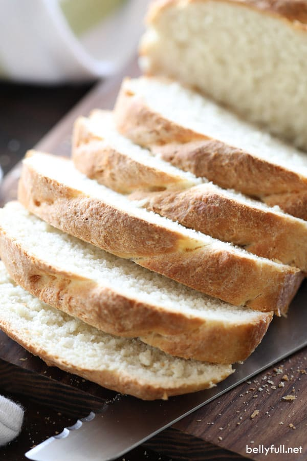 sliced homemade sandwich bread
