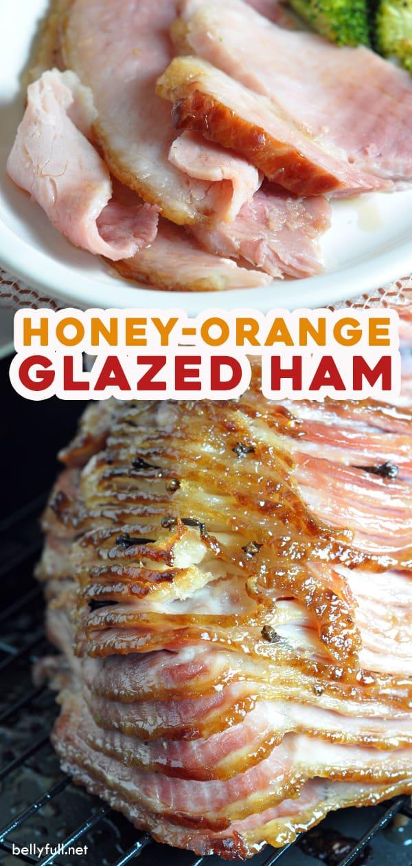 long pin for honey orange glazed ham