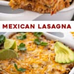 2 picture long pin for Mexican Lasagna