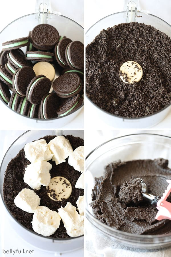Step by step process pictures for Oreo Truffles
