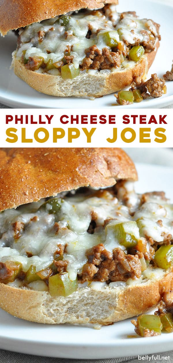 long pin for Philly Cheese Steak Sloppy Joes