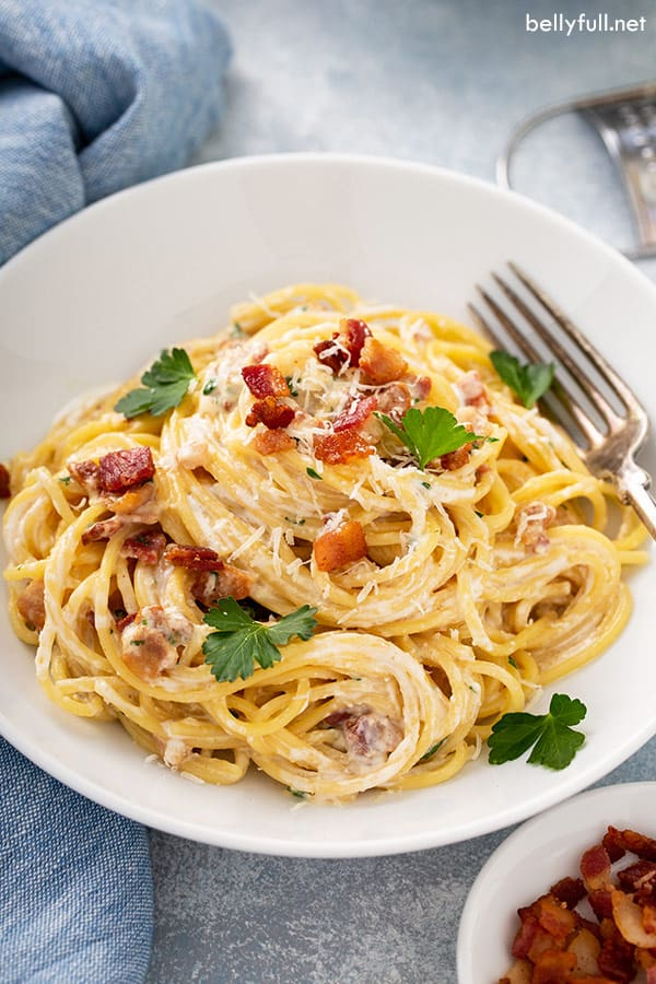One Pot Spaghetti Carbonara Belly Full