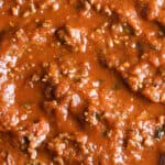 long pin for the best homemade spaghetti sauce