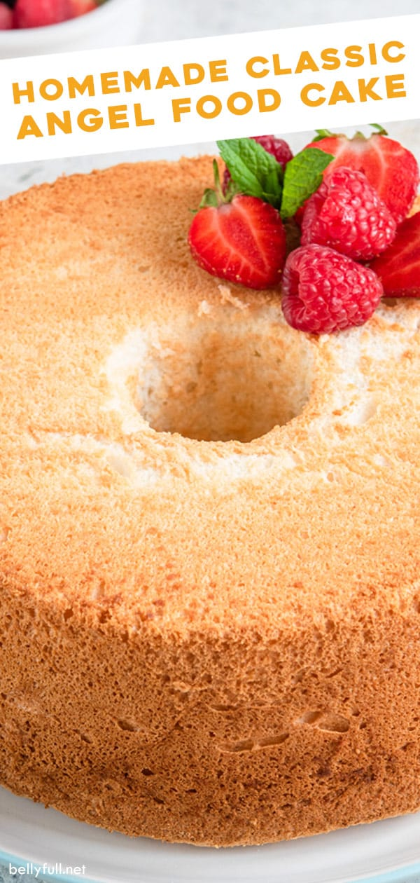 Brilliant Homemade Angel Food Cake Recipe Belly Full Personalised Birthday Cards Paralily Jamesorg