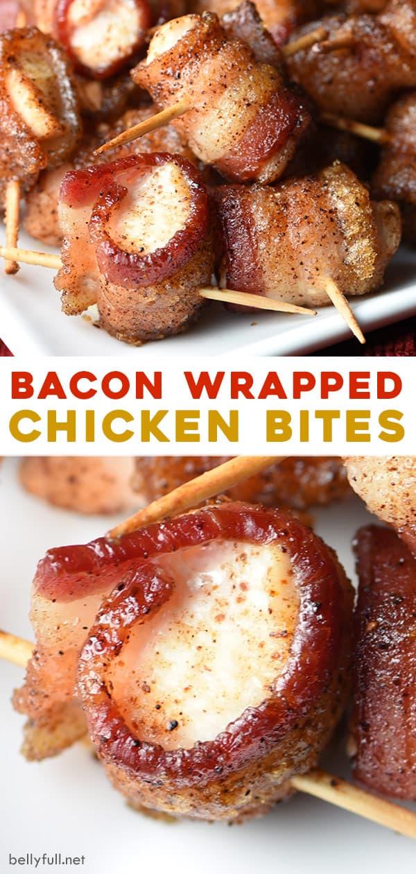 2 picture pin for bacon wrapped chicken bites