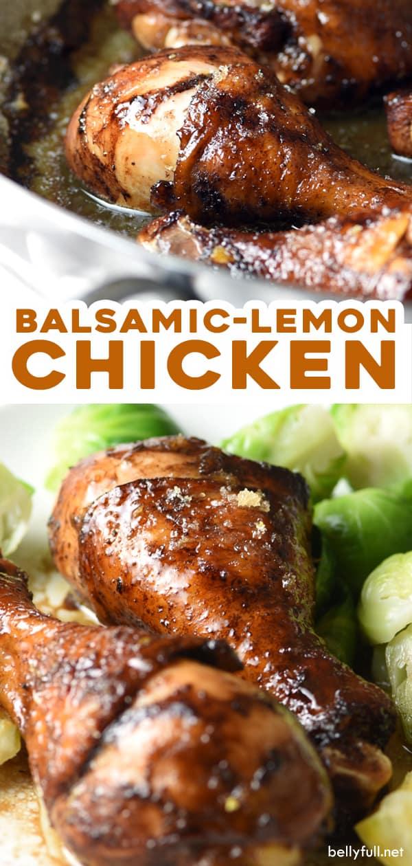 long pin for balsamic lemon chicken