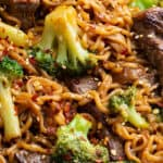 long pin for beef and broccoli ramen stir fry