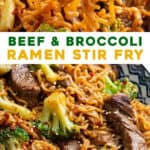 2 picture pin for beef and broccoli stir fry