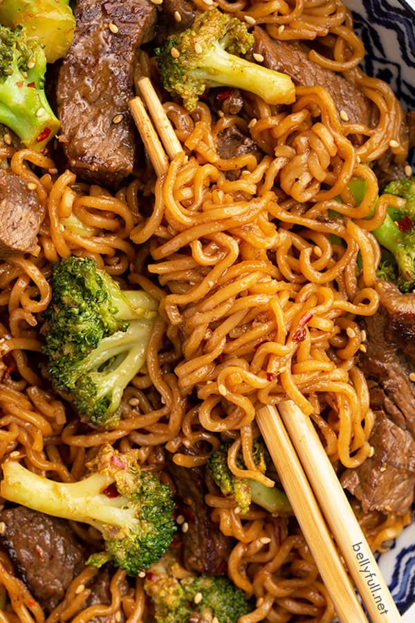 Beef And Broccoli Ramen Stir Fry Belly Full