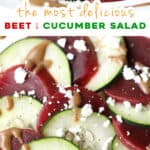 2 picture pin for beet and cucumber salad
