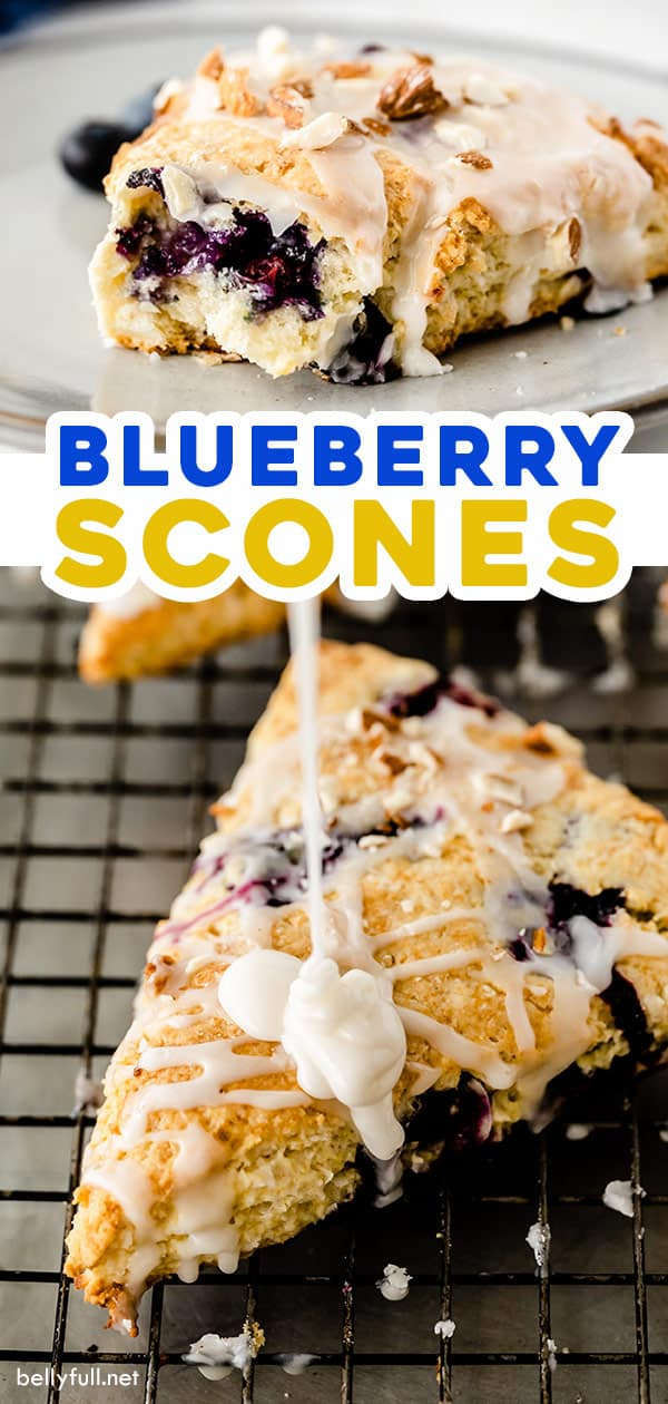 long pin for homemade blueberry scones