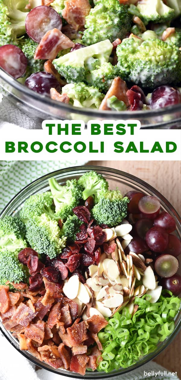 2 picture pin for broccoli salad recipe