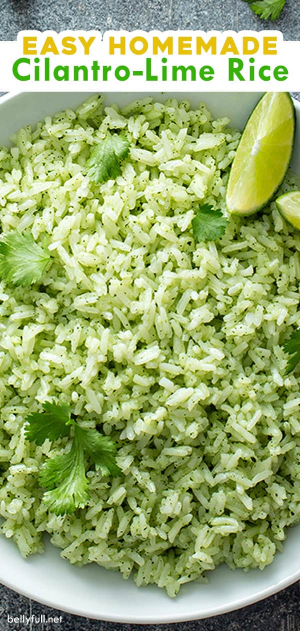 long pin for cilantro lime rice recipe