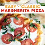 2 picture pin for homemade Margherita Pizza