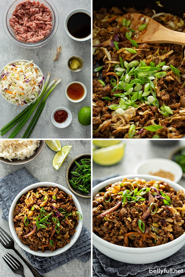 step by step photos for egg roll in a bowl recipe
