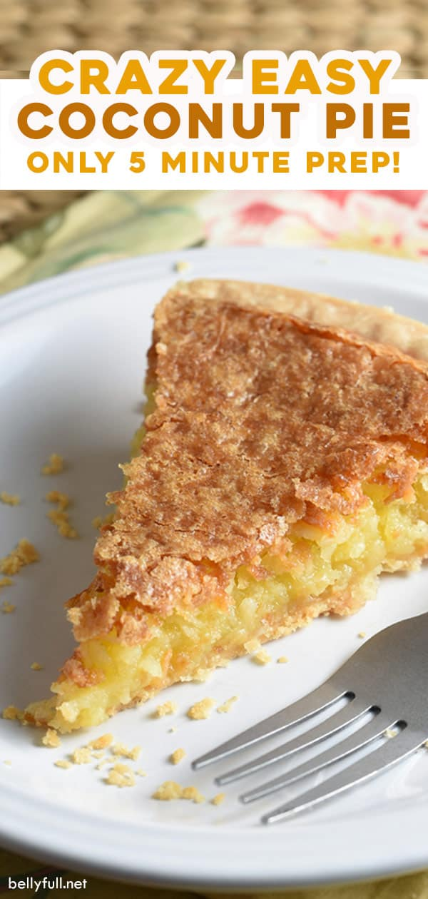 long pin for easy coconut pie