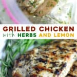 2 picture split pin for grilled chicken marinade