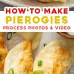 pin for how to make homemade pierogies