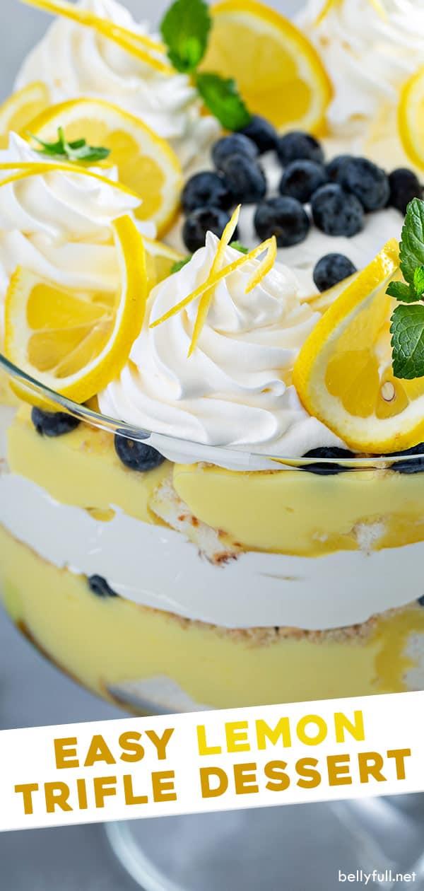 Easy Lemon Trifle Dessert Recipe Belly Full