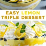 2 picture pin for lemon trifle dessert