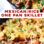 2 picture pin for mexican rice skillet