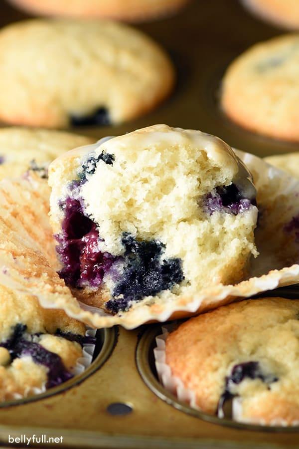 blueberry muffins split open