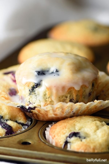 blueberry muffins with glaze