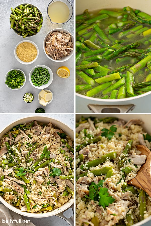 step by step photos for spring vegetable couscous