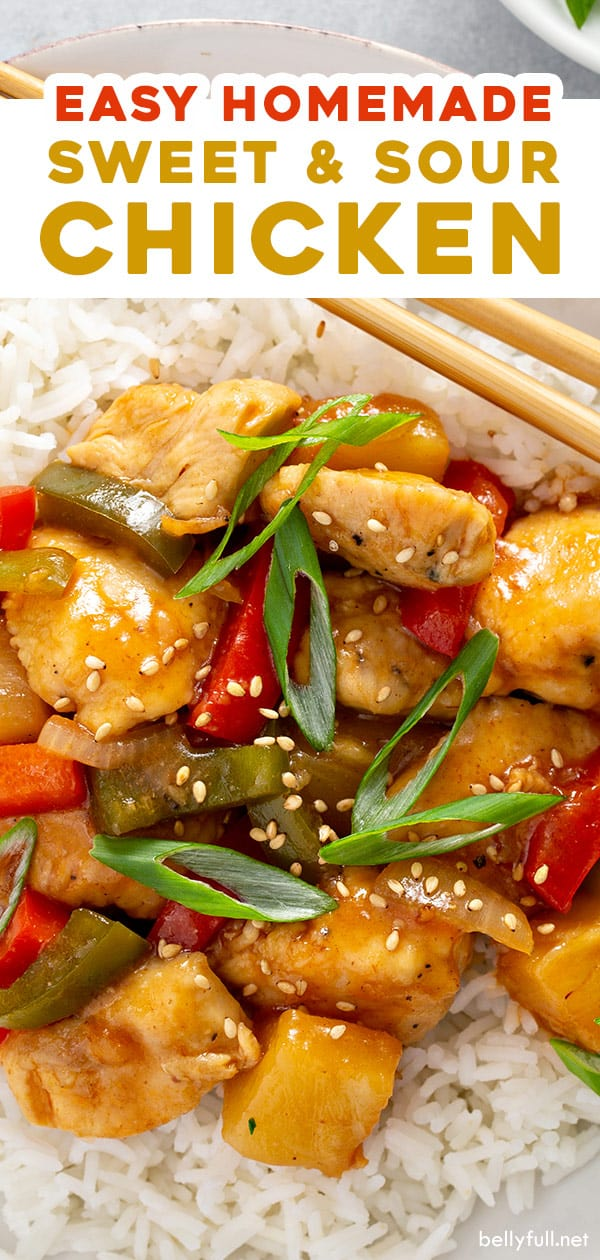 long pin for sweet and sour chicken recipe