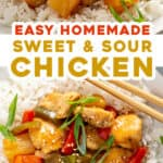 2 picture pin for sweet and sour chicken