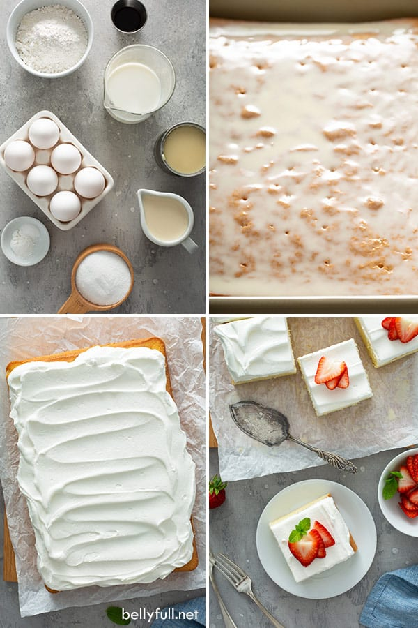 step by step photos for homemade tres leches cake