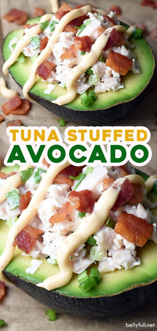 long pin for tuna stuffed avocado