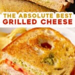 2 picture pin for pesto grilled cheese sandwich