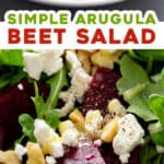 2 picture split pin for Arugula Beet Salad