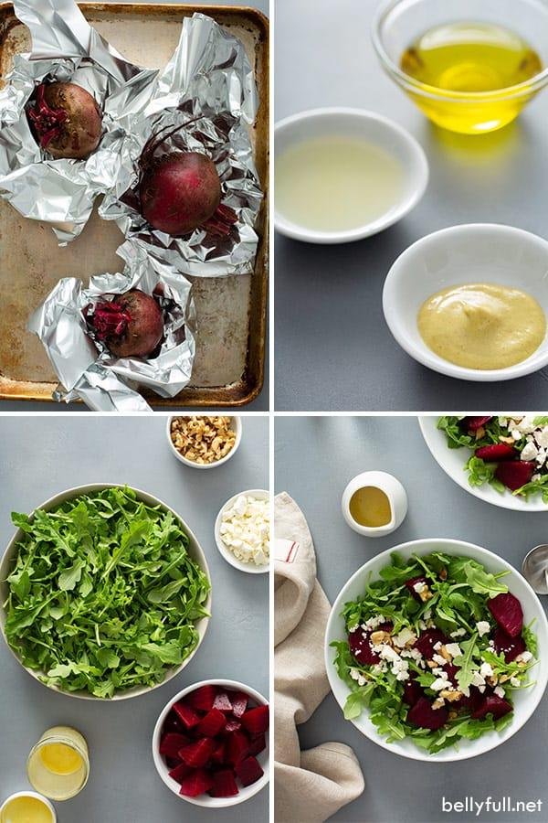 ingredients for Arugula Beet Salad