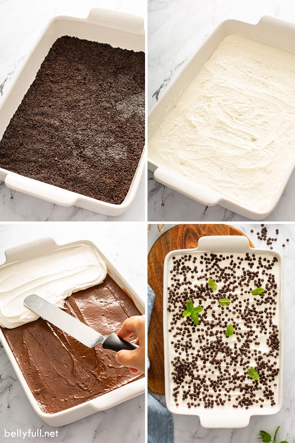 step by step process pictures for Chocolate Lasagna Recipe