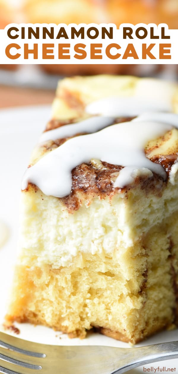pin for cinnamon roll cheesecake