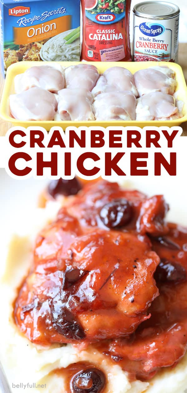 pin for easy Cranberry Chicken