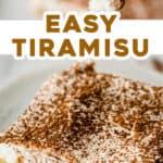 2 picture pin of easy Tiramisu dessert recipe