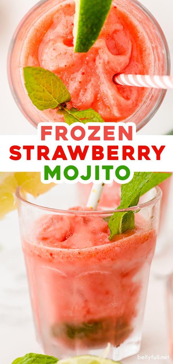 2 picture pin for Frozen Strawberry Mojito recipe