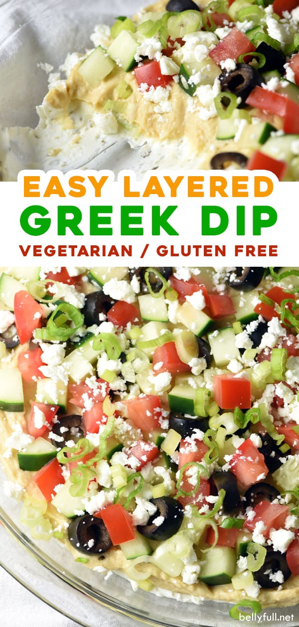 2 picture pin for layered Greek Dip