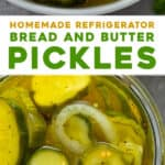 2 picture pin for homemade refrigerator bread and butter pickles